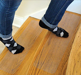 People Treads Non Slip Material Traction Enhancing Strips Help